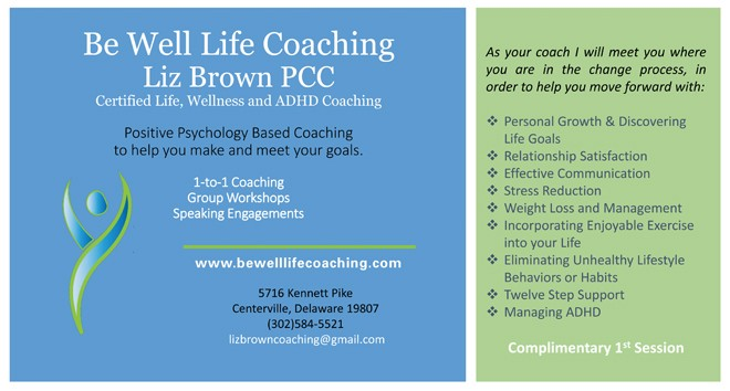 Be Well Life Coaching Liz Brown PCC