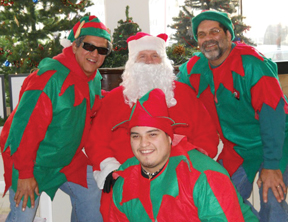 Santa and his elves 2
