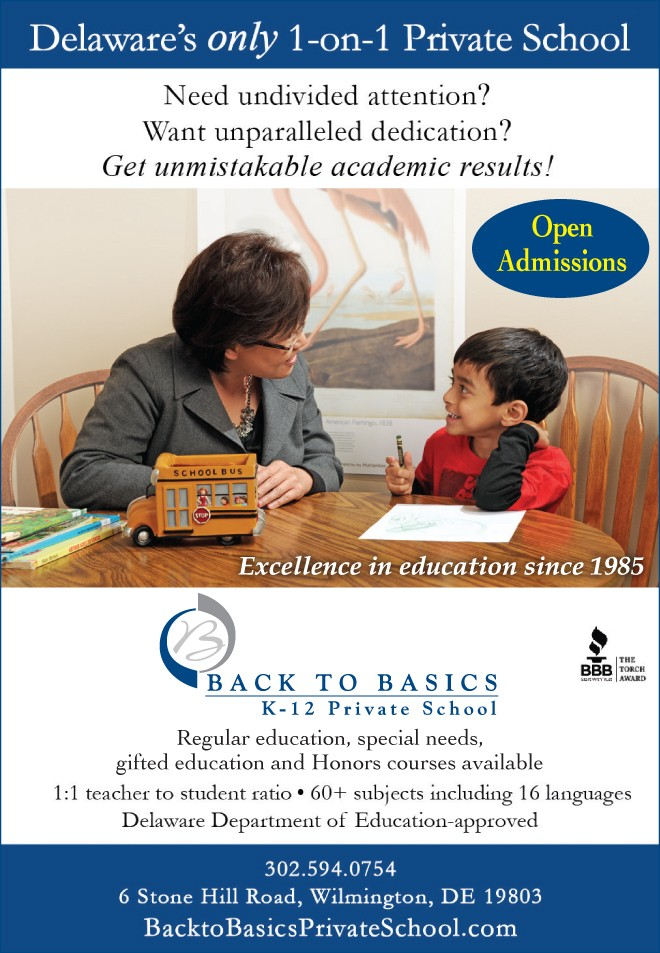 Delaware's Only 1-on-1 Private School Offers A Revolutionary Difference  For Students In Grades K-12th!