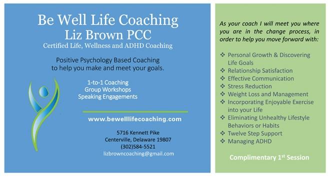 Be Well Life Coaching Liz Brown PCC
