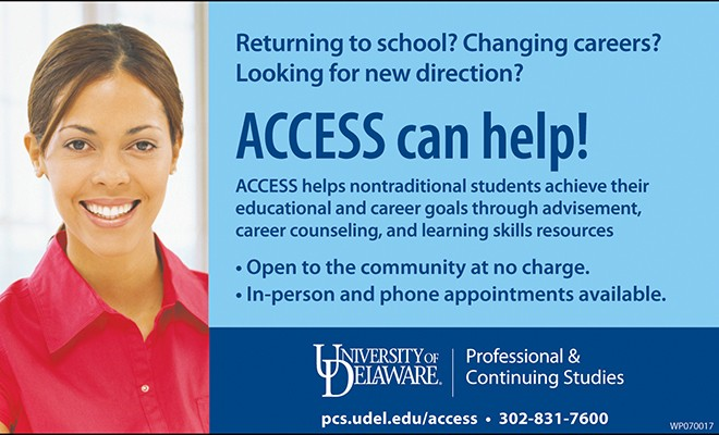 UD's ACCESS Center Offers Free Advisement Services  To Students And Community Members