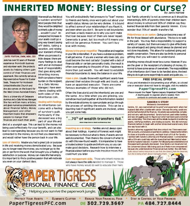 Inherited Money, The Women's Journal