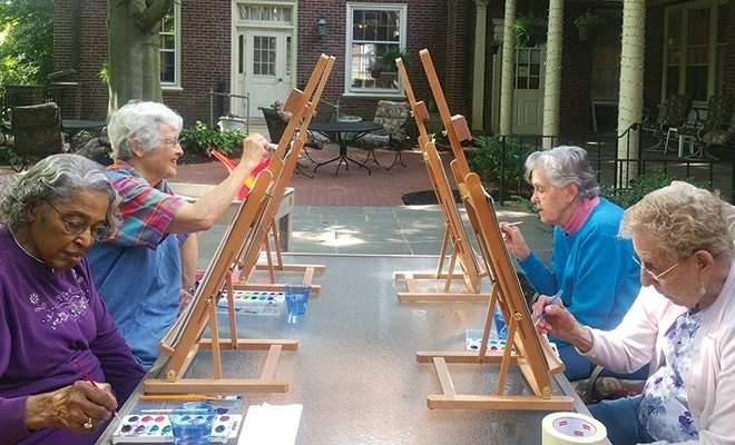 Improving Seniors' Health Through Art