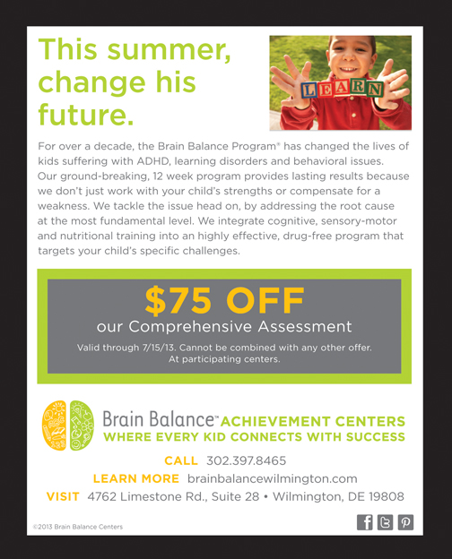 "New Brain Balance Center Opens In DE ""We Don't Address The Symptoms. We Address The Cause."""