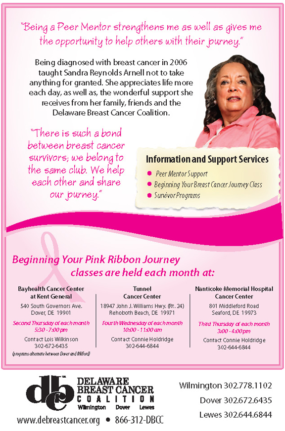 Delaware Breast Cancer Coalition – Classes Held Each Month