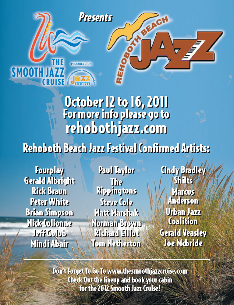 Rehoboth Beach Jazz Festival – October 12-16, 2011!  Join Us!
