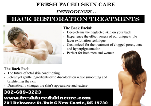 Facials For Your Back