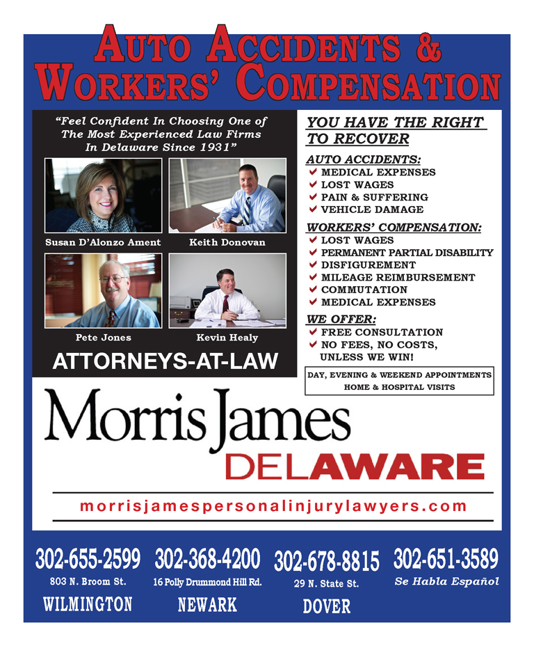 Auto Accidents & Workers' Compensation – Morris James, The Women's Journal