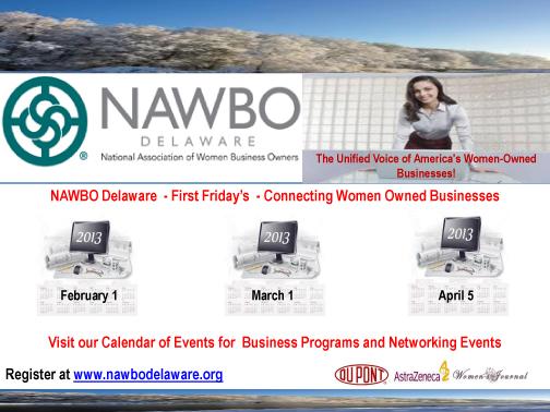 NAWBO DE 2012-2013 Board of Directors Candace Roseo, Pres. Rhon