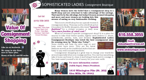 Value Of Consignment Shopping, The Women's Journal