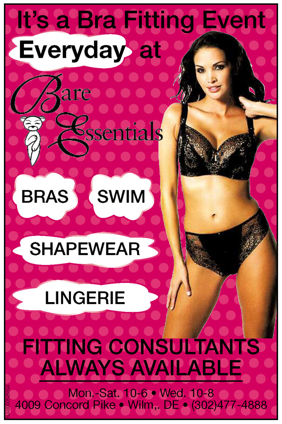 It's A Bra Fitting Event Everday At Bare Essentials