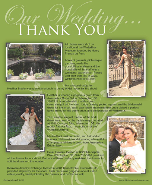 Bridal Issue 2013!, The Women's Journal