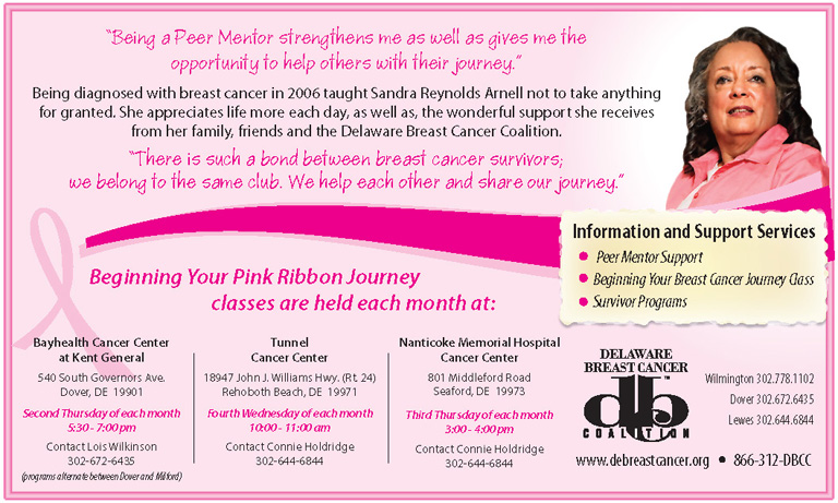Delaware Breast Cancer Coalition – Begin Your Pink Ribbon Journey…, The Women's Journal