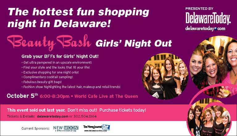 Delaware Today Presents Beauty Bash Girls' Night Out