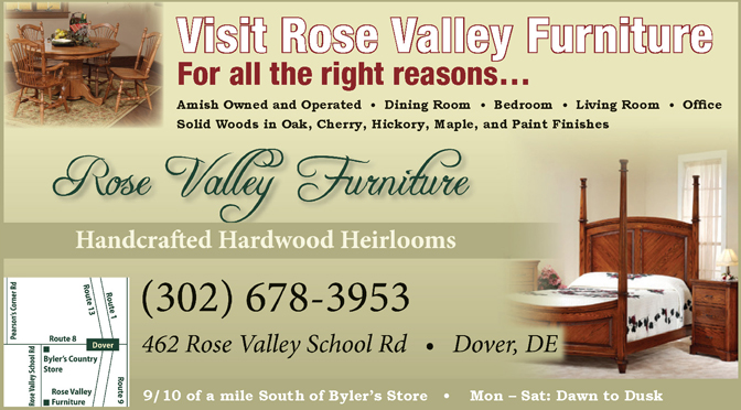 Visit Rose Valley Furniture, For All the Right Reasons…, The Women's Journal